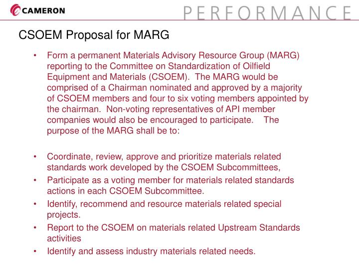 CSOEM Proposal for MARG