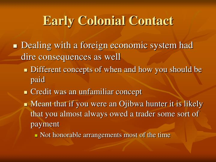 Early Colonial Contact