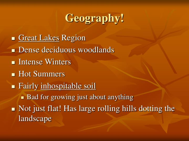 Geography!