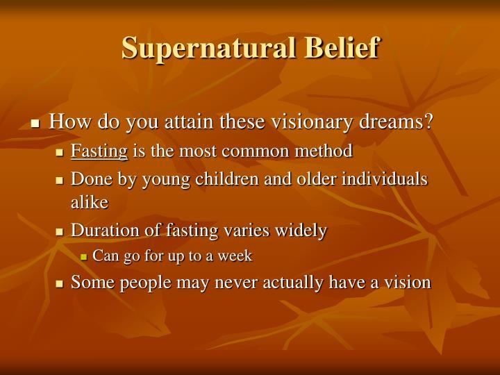 Supernatural Belief
