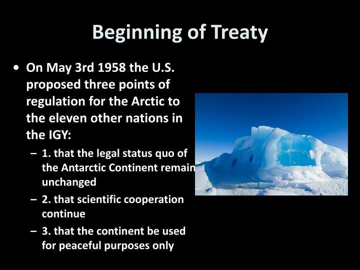 Beginning of Treaty