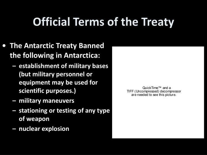 Official Terms of the Treaty