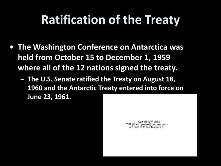 Ratification of the Treaty