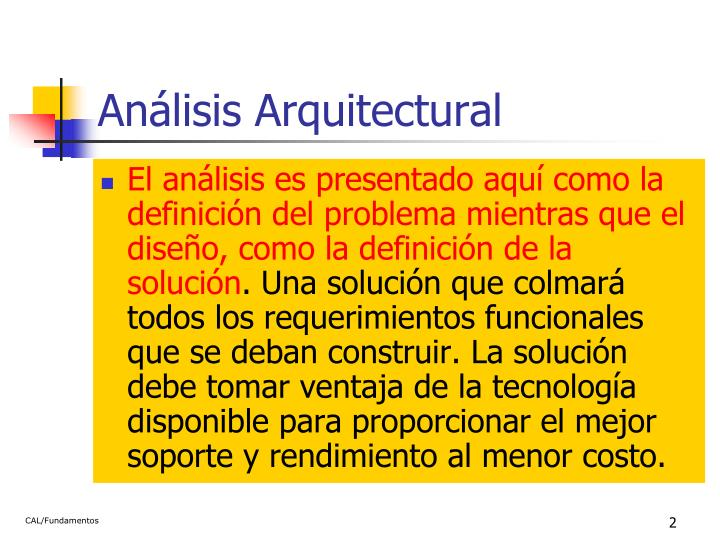 Análisis Arquitectural