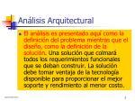an lisis arquitectural