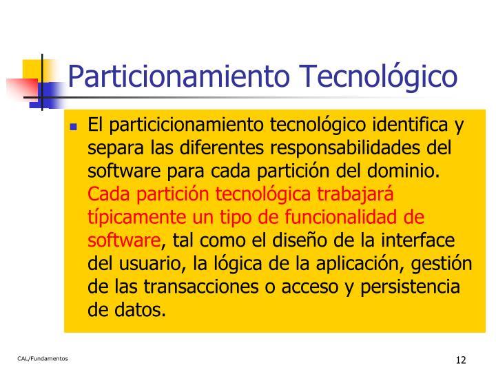 Particionamiento Tecnológico