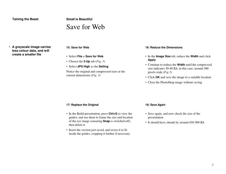 15: Save for Web