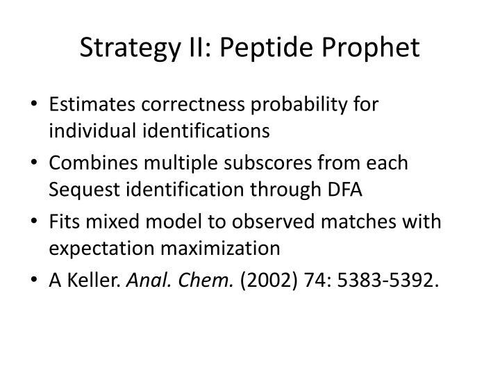 Strategy II: Peptide