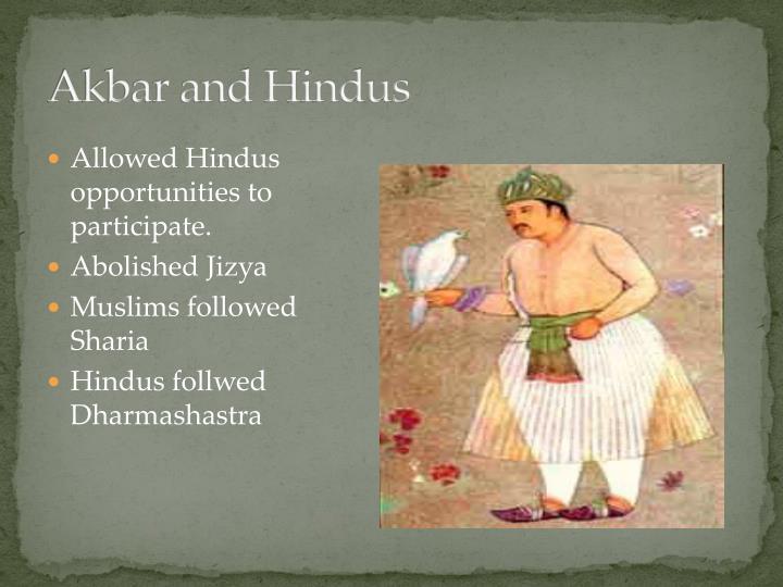 Akbar and Hindus