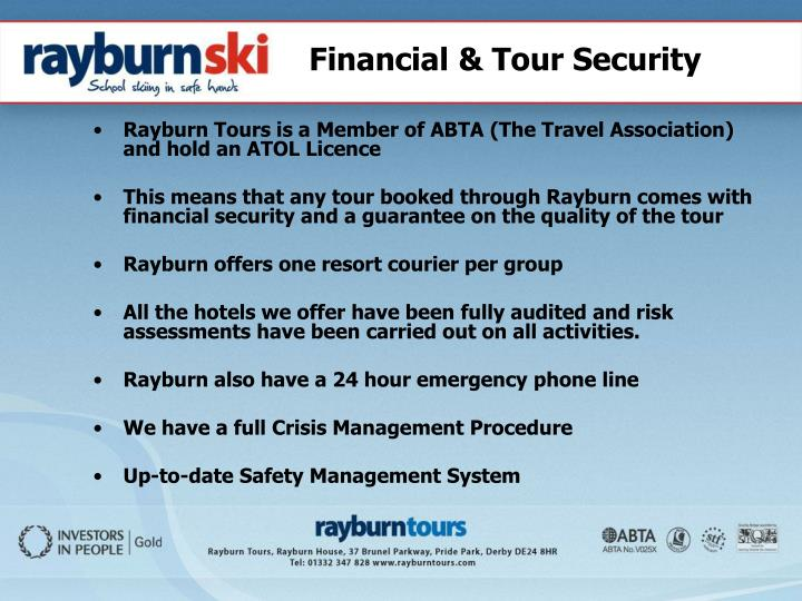Financial & Tour Security