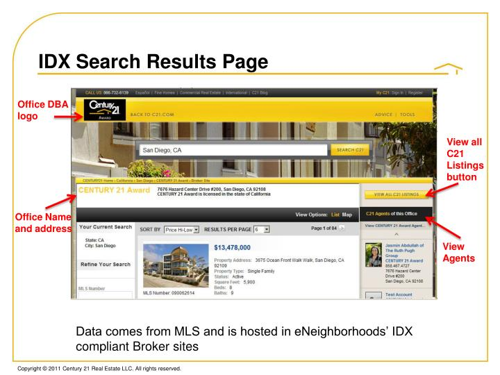 IDX Search Results Page
