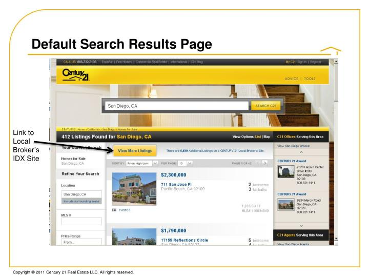 Default Search Results Page