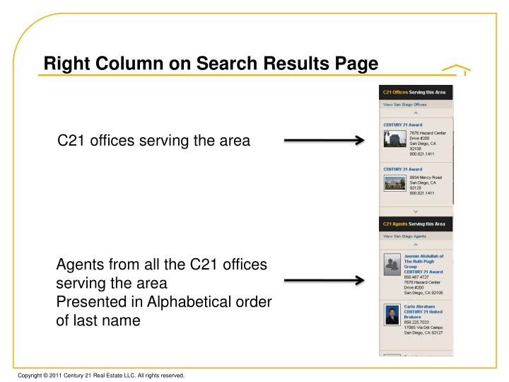Right Column on Search Results Page