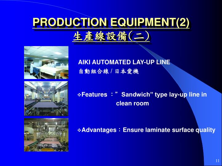 PRODUCTION EQUIPMENT(2)