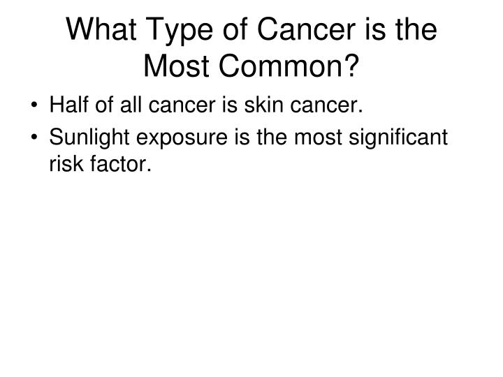 What Type of Cancer is the Most Common?