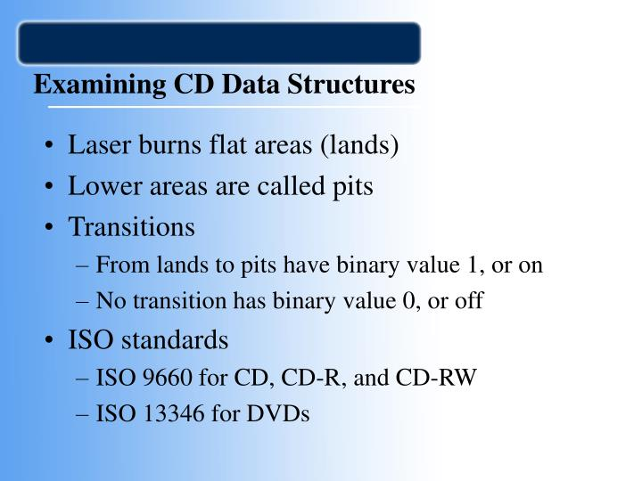 Examining CD Data Structures