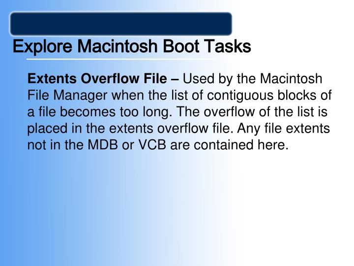 Explore Macintosh Boot Tasks