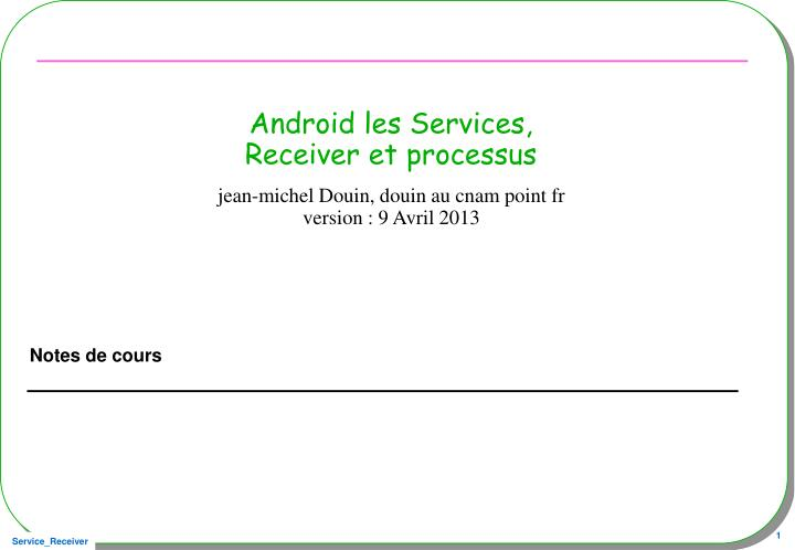 Android les Services,