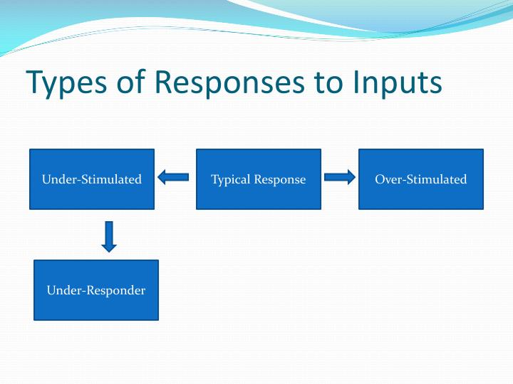 Types of Responses to Inputs