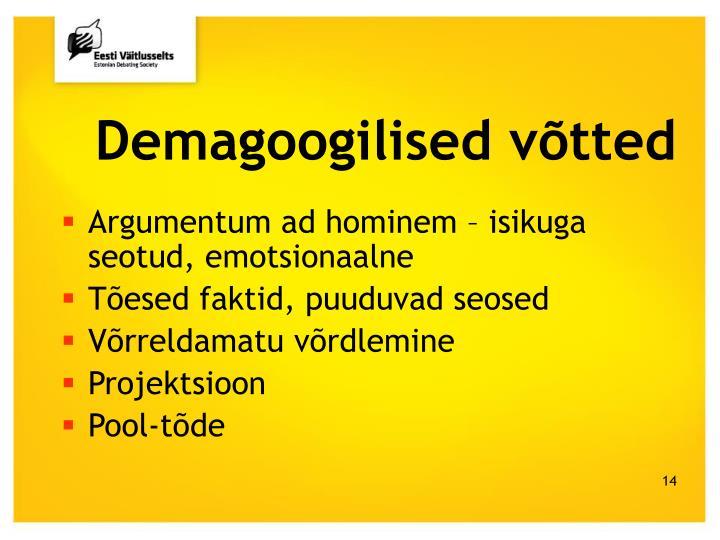 Demagoogilised võtted