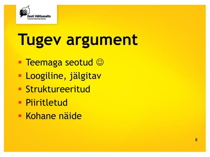 Tugev argument