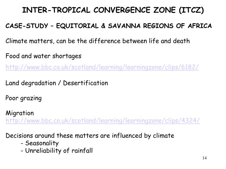 INTER-TROPICAL CONVERGENCE ZONE (ITCZ)