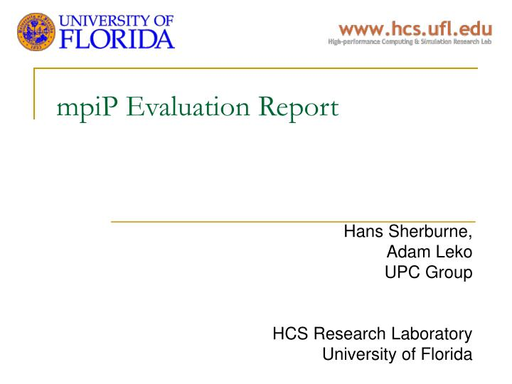 Mpip evaluation report