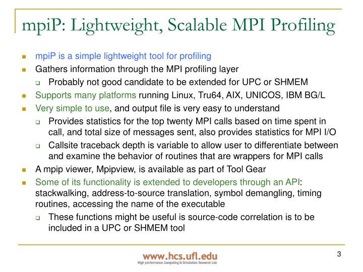 mpiP: Lightweight, Scalable MPI Profiling