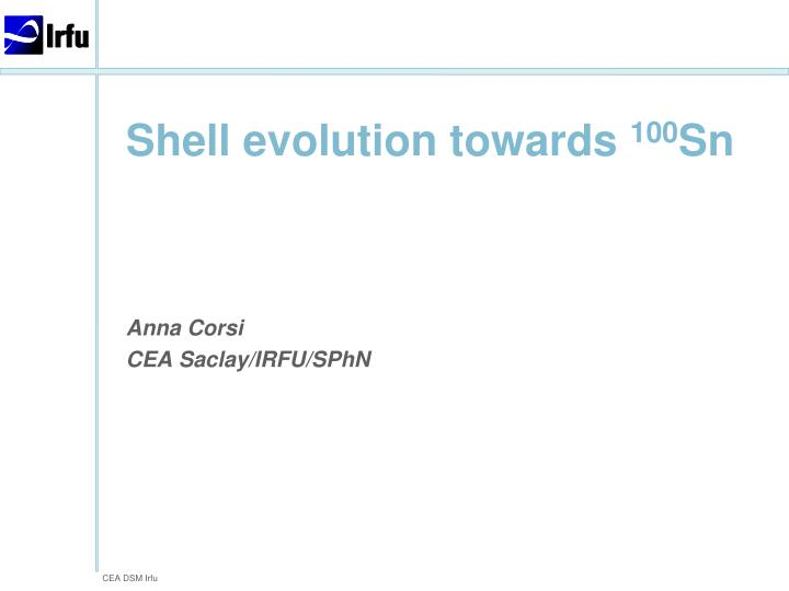 Shell evolution towards 100 sn