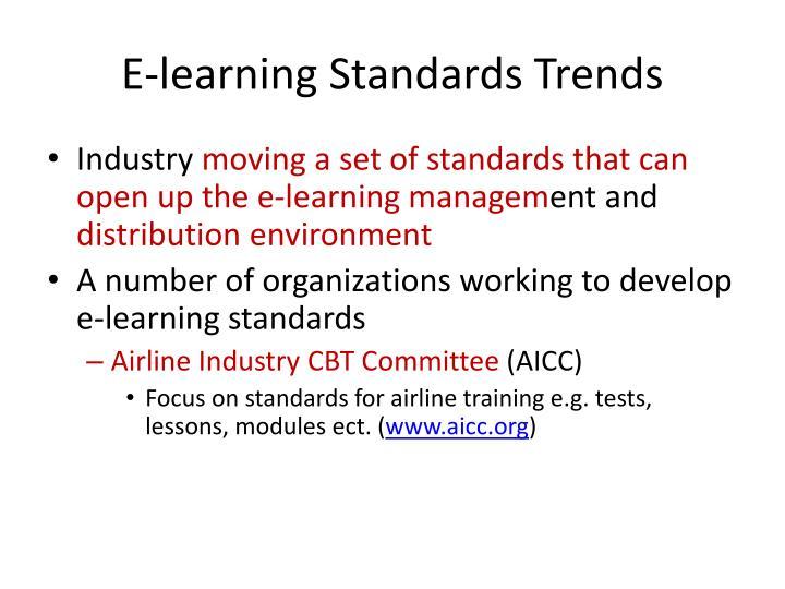 E-learning Standards Trends