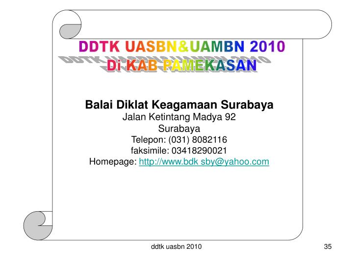 DDTK UASBN&UAMBN 2010