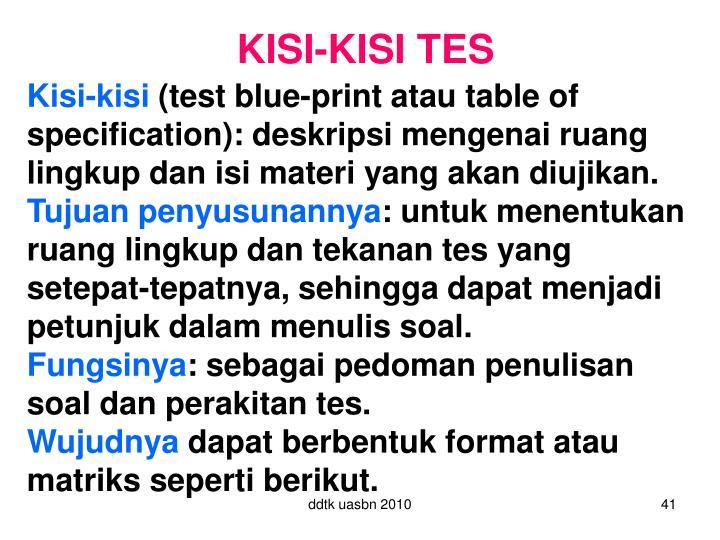 KISI-KISI TES