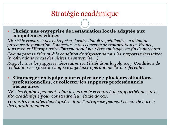 Stratégie académique
