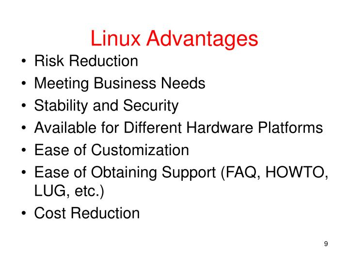 Linux Advantages