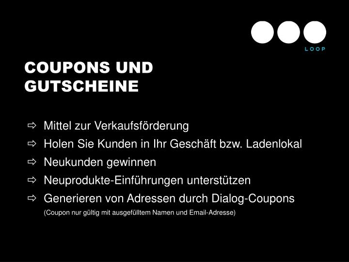 COUPONS UND