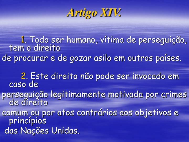 Artigo XIV.