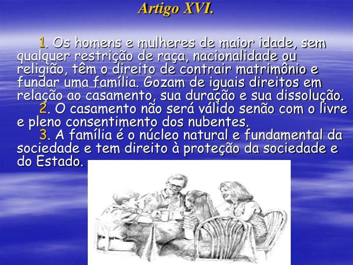 Artigo XVI.