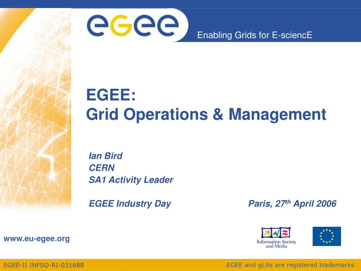 Egee grid operations management