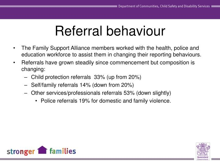 Referral behaviour