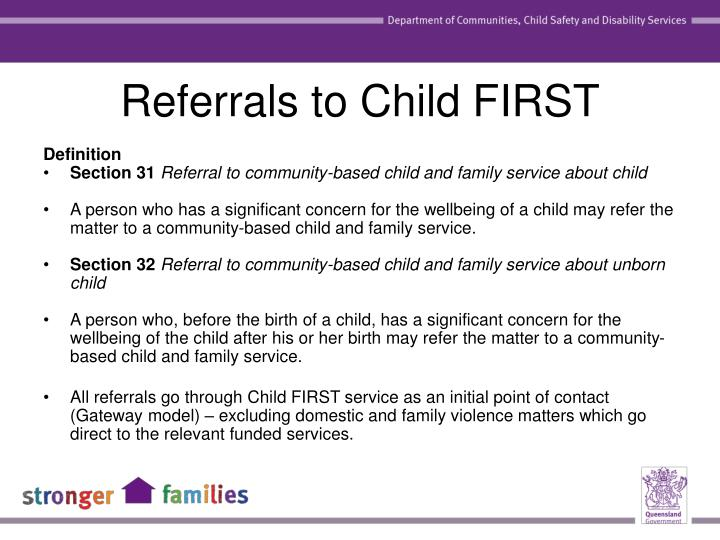 Referrals to Child FIRST