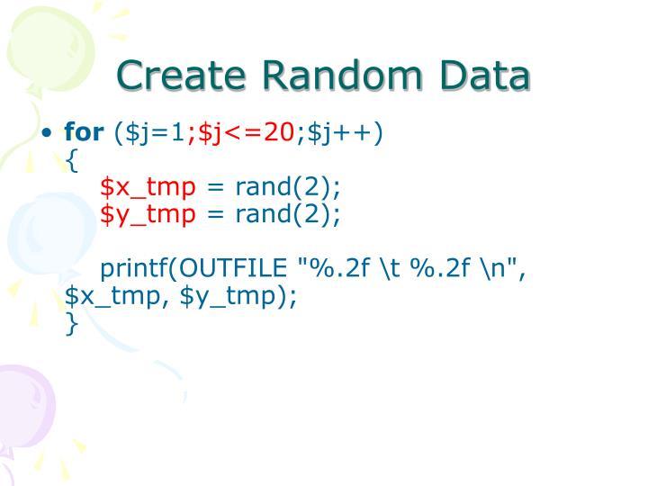 Create Random Data
