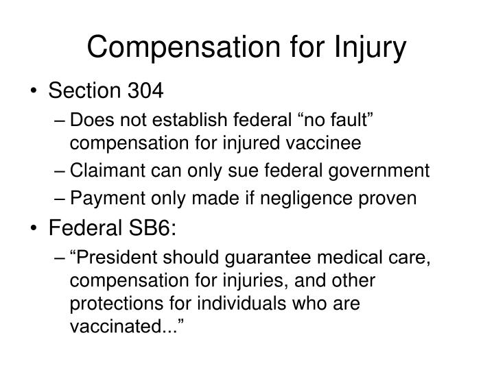 Compensation for Injury