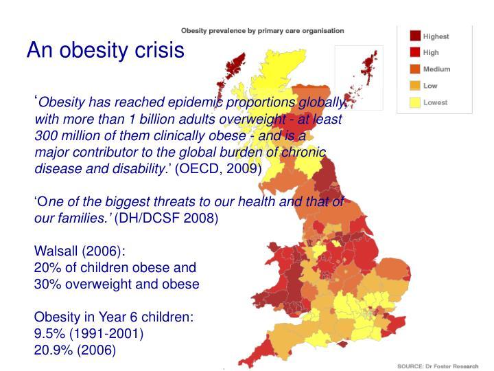 An obesity crisis