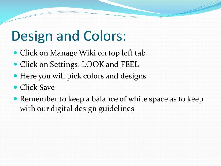 Design and Colors: