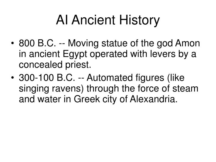 AI Ancient History