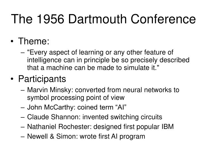 The 1956 Dartmouth Conference