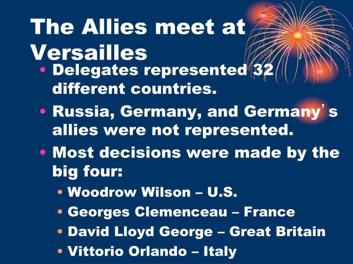 The Allies meet at Versailles