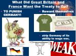 what did great britain and france want the treaty to do