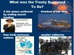 what was the treaty supposed to do