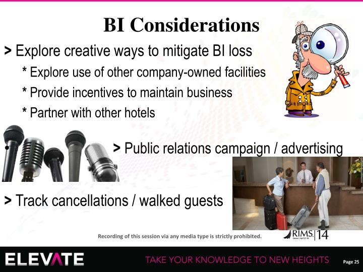 BI Considerations